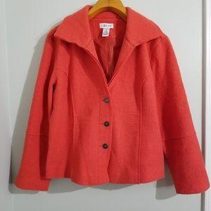 Vintage 100% Wool Spread Collar Jacket